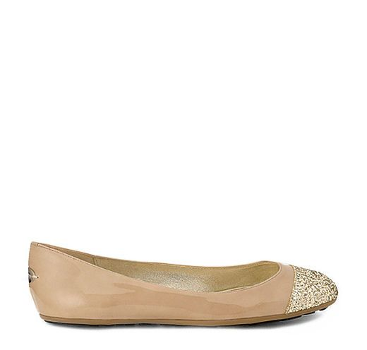 ede6e485cdec JIMMY CHOO Whirl Nude Patent Ballet Flats With Glitter Toe Cap.  jimmychoo   shoes