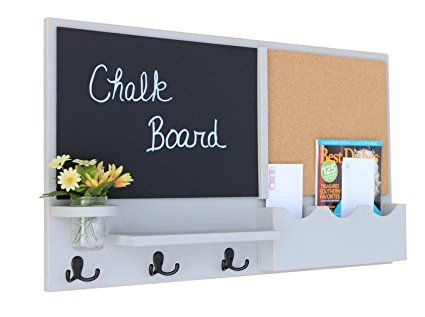 Chalk Board Cork Home Office Key Organizer Anniversary Gift For Her Unique Wedding Gifts Christmas Ideas Personalized