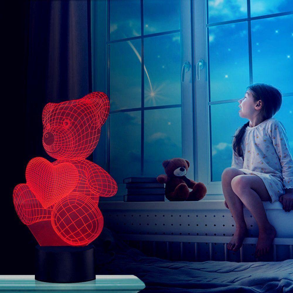 Liebe Herz Bar 3d Optische Illusions Lampen Fzai Tolle 7 Farbwechsel Acryl Beruhren Tabelle Schreibtisch Nachtlicht Mit 150 C Nachtlicht Geschenke Farbwechsel