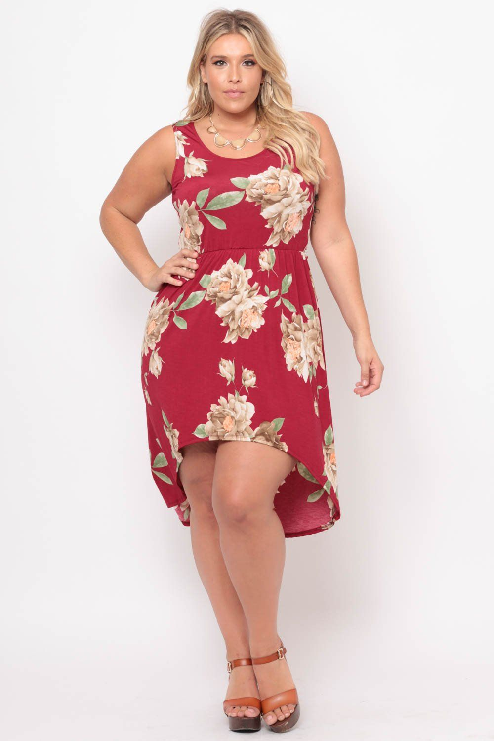 9c1d510a23be8 #curvysense #floral #burgundy #red #spring #fashion #summer #high #low # dress #style #tank