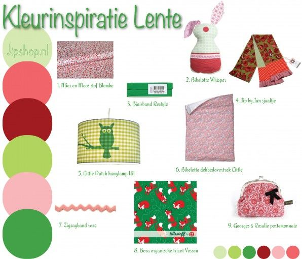 Kleurinspiratie Lente - Groen Roze Jipshop