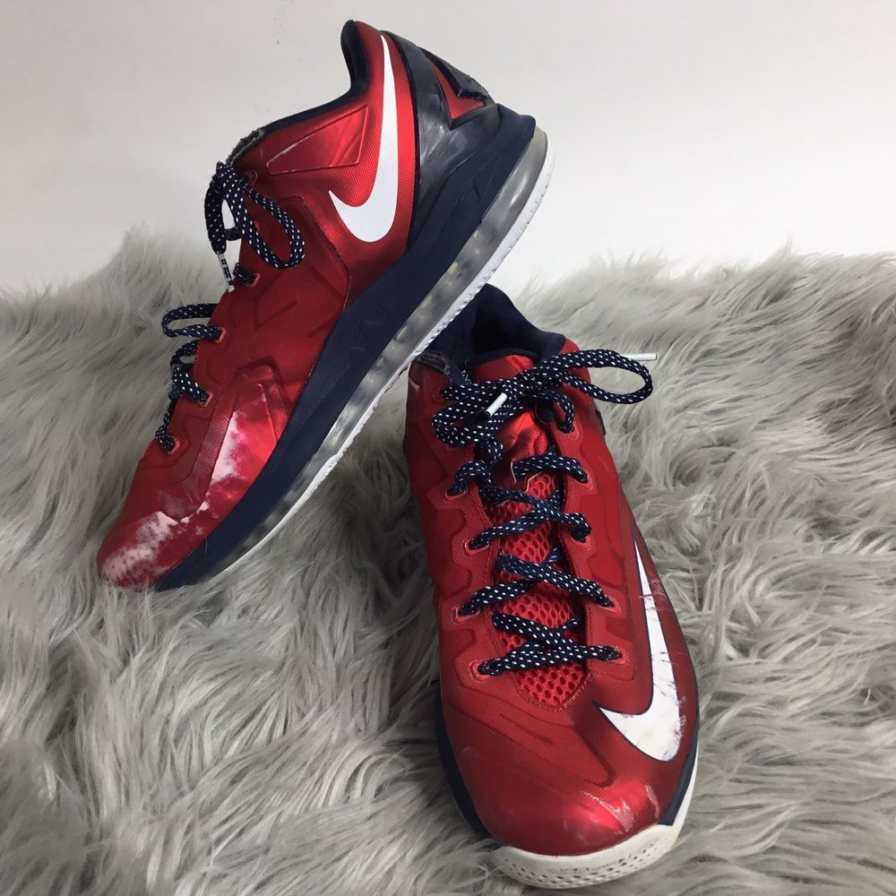 caf2d20ac4e8fb NIKE Air Max LeBron XI Low Independence Day Basketball Shoes Sz 13.5   fashion  clothing