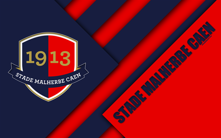 Download Wallpapers Stade Malherbe Caen 4k Blue Red Abstraction Material Design Caen Logo French Football Club Ligue 1 Cahn France Football Besthqwallp Caen Custom Soccer Flags For Sale
