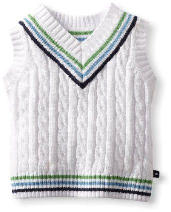 Kitestrings Baby-Boys Infant Cable Knit V-Neck Sweater Vest, White, 6-9 Months KITESTRINGS. $38.00