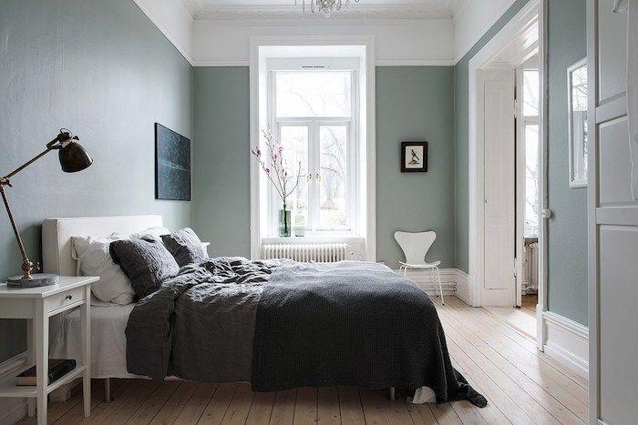 ▷ 1001 + idées déco charmantes pour adopter la nuance vert céladon - chambre bleu gris blanc