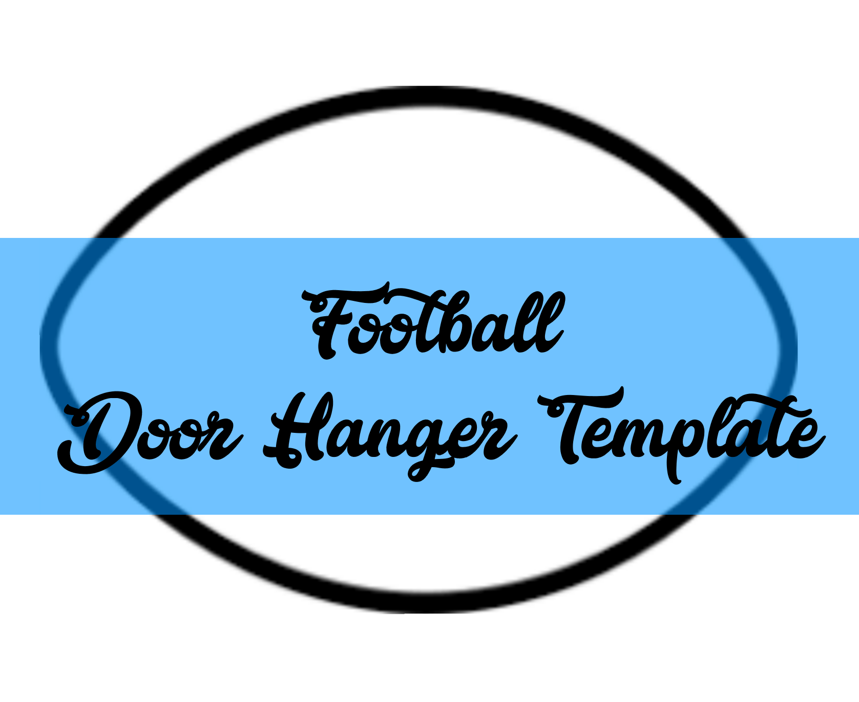 Football Door Hanger Template