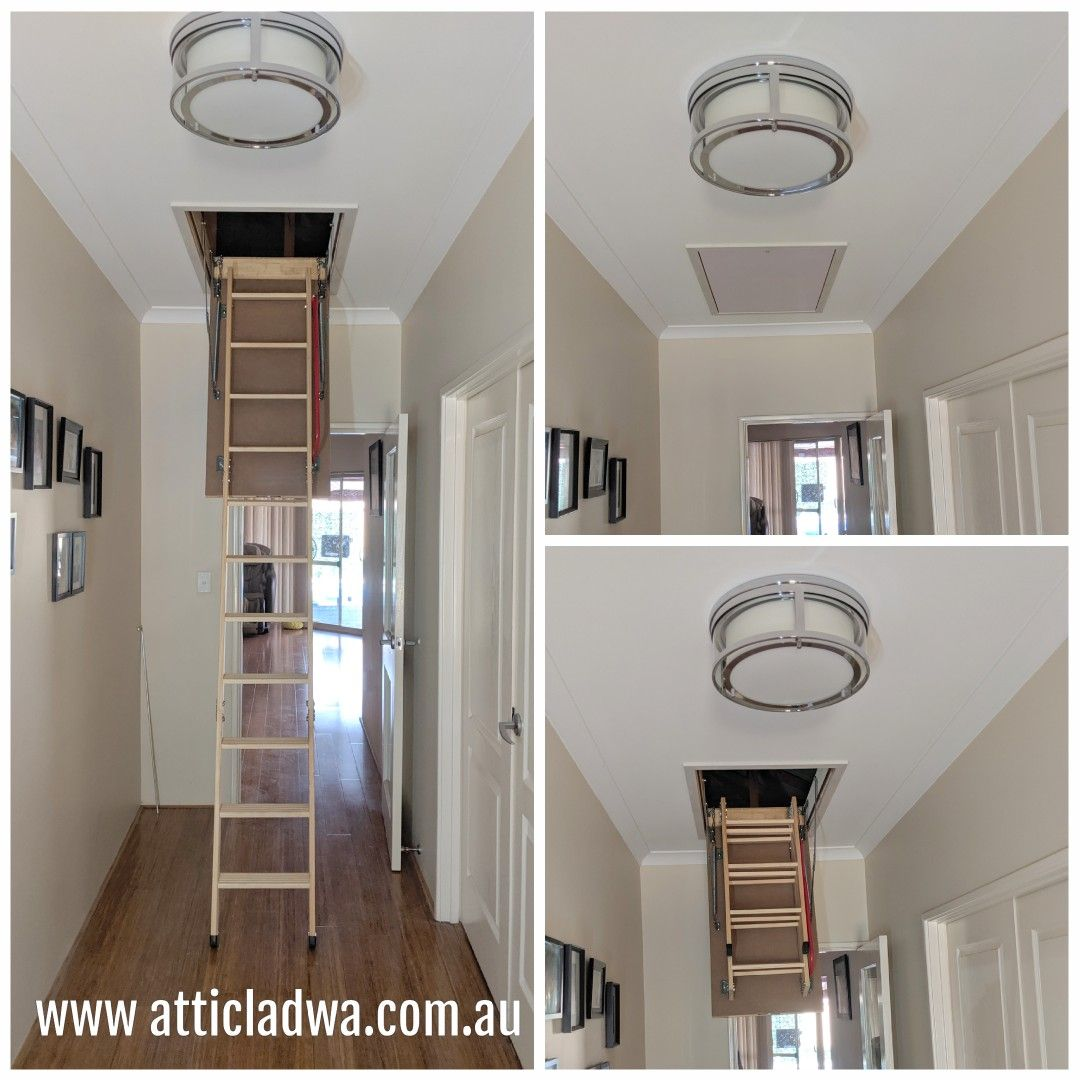 The Benifit Of An Attic Ladder Attic Stairs Folding Attic Ladders Are Extremely Easy To Use And Highly Functional Th Stair Ladder Attic Stairs Loft Spaces