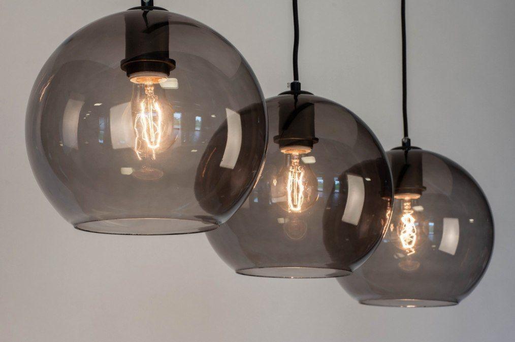 Hanglamp 73124 Modern Retro Glas Metaal Pendelleuchte Moderner Retro Leuchte Esstisch
