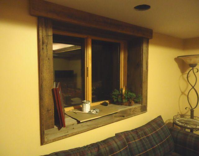 Barnwood Trim Windows | Barnwood Basement Accents | Bathroom ...