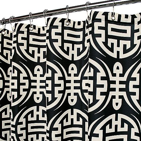 This Park B Smith Reg Fabric Shower Curtain Has Design Elements