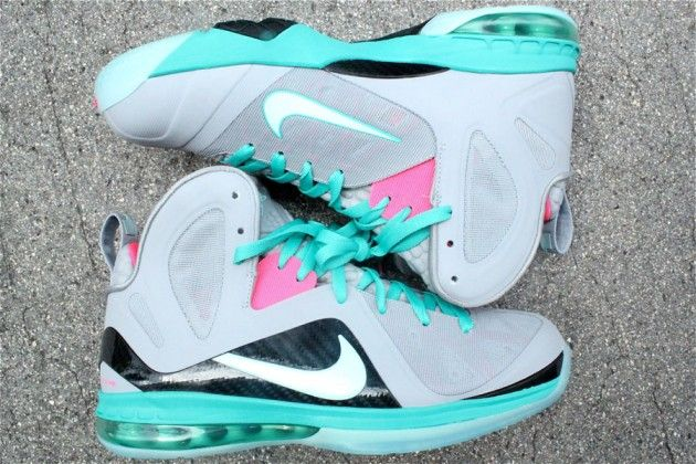 super popular 31b10 3d88d nike-lebron-9-ps-elite-miami-vice-south-beach-03...I could never pull these  off but I love them!