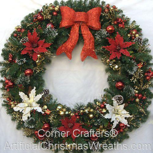 48 Inch Christmas Magic Wreath 2017 Largedecoratedchristmaswreaths Christmaswreaths Artificialchristmas