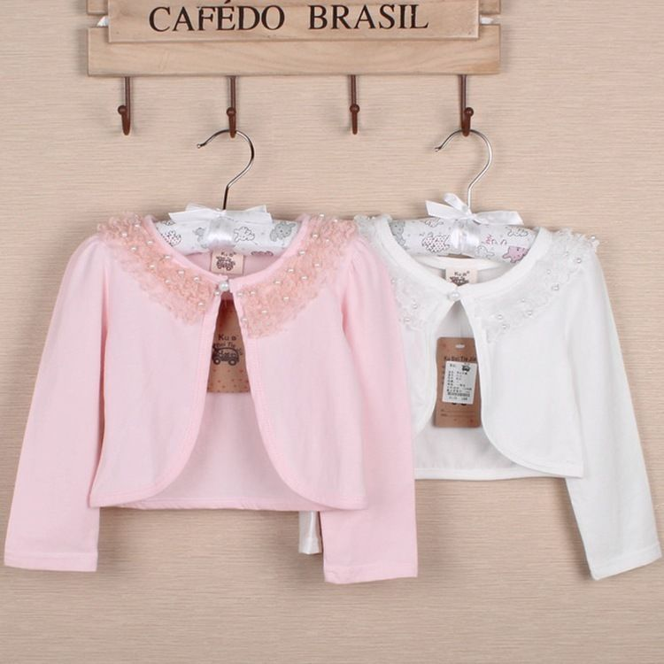 14bd623e9 Ivory Pink Bolero Shrug Short Cardigan for Bridesmaids Flower Girls ...