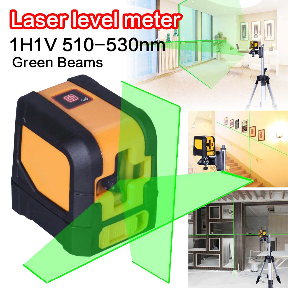 Mini Green Beam Cross MSG20mini 2 Lines Electronic Auto Self Horizontal and Vertical Laser Level Meter Tools