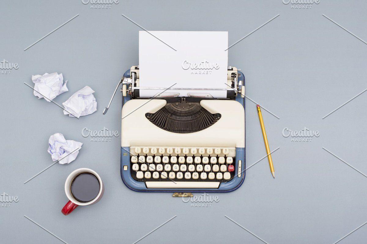 Photo of Writers block #Sponsored , #affiliate, #retro#typewriter#Top#view