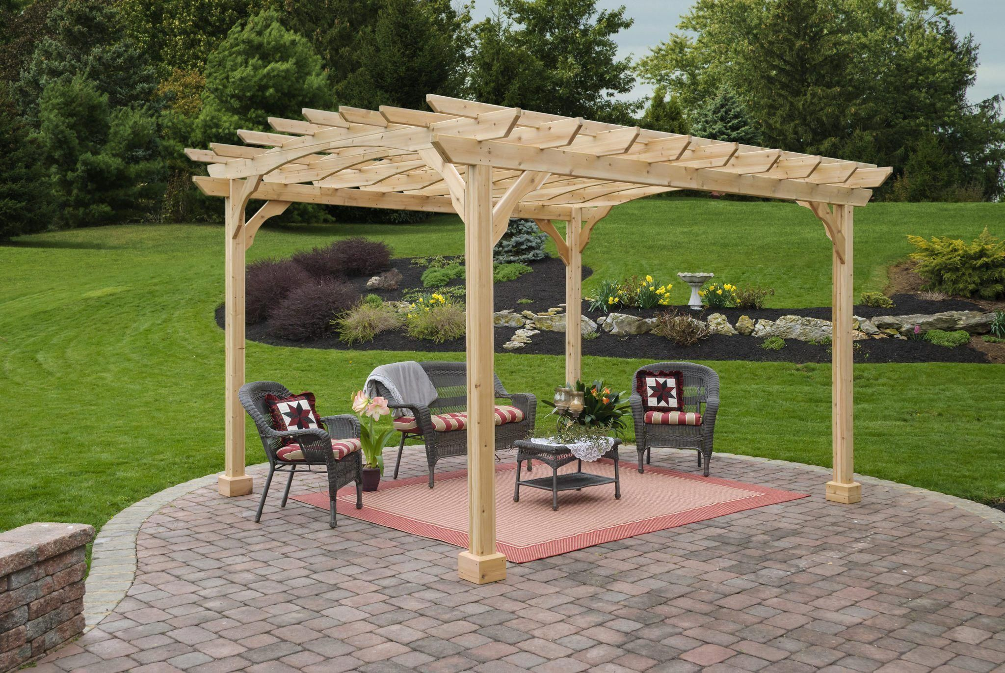 10x12 Wood Pergola Kit Pergola Wood Pergola Kits Wood Pergola