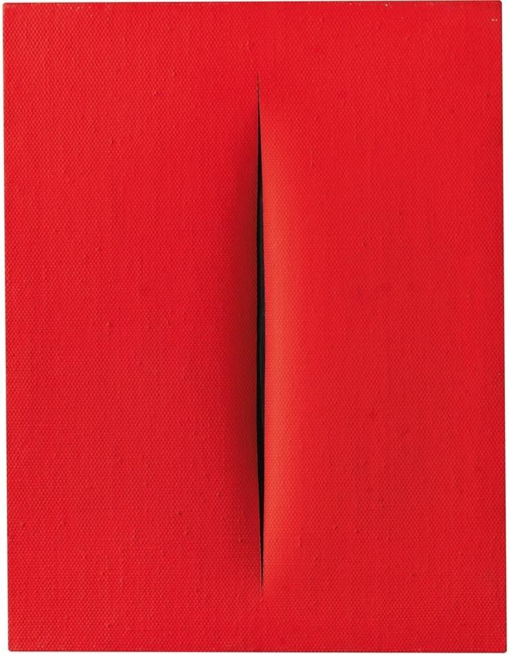 Lucio Fontana:  Concetto Spaziale  (1964) www.kunstzolder.be