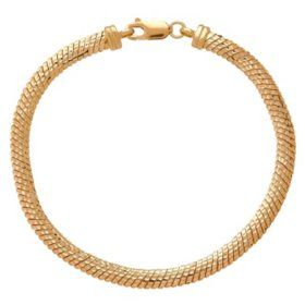 Italian 14k Yellow Gold Herringbone Link Bracelet Sam S Club Jjs