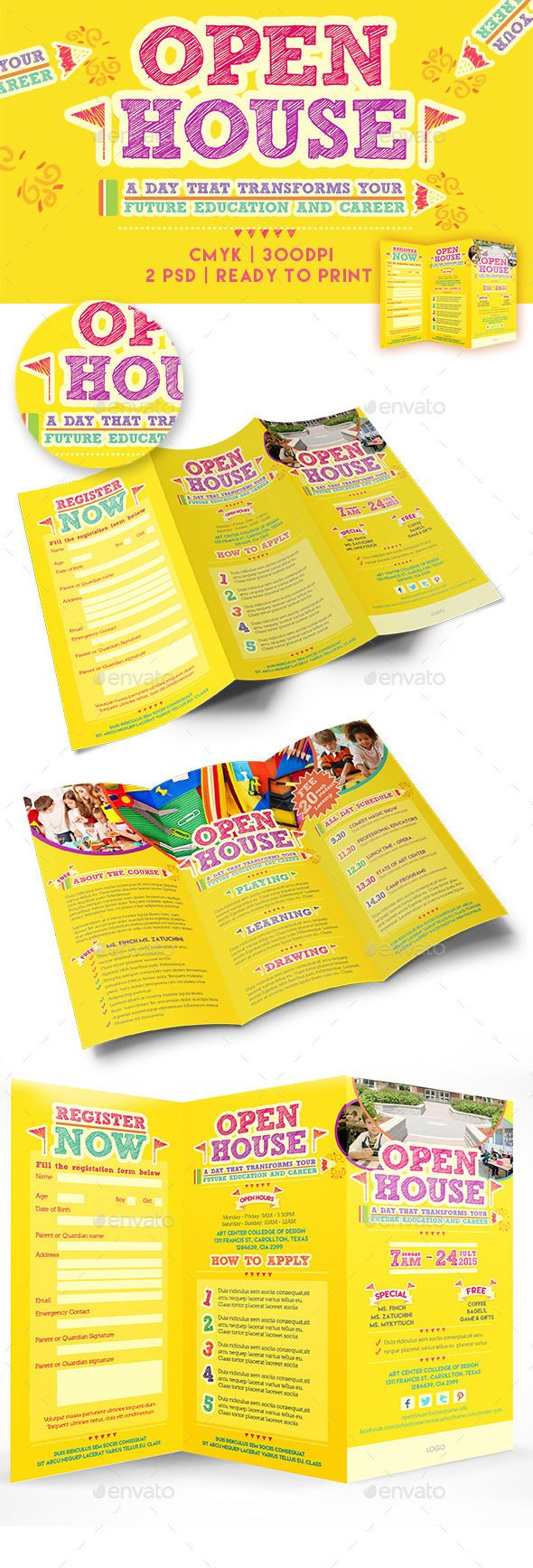 Open House Trifold Brochure Template Event Flyers Brochure