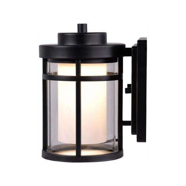 Home Decorators Collection Black Outdoor Led Wall Lantern Sconce Dw7031bk The Home Depot In 2020 Black Outdoor Wall Lights Outdoor Wall Lighting Wall Lights