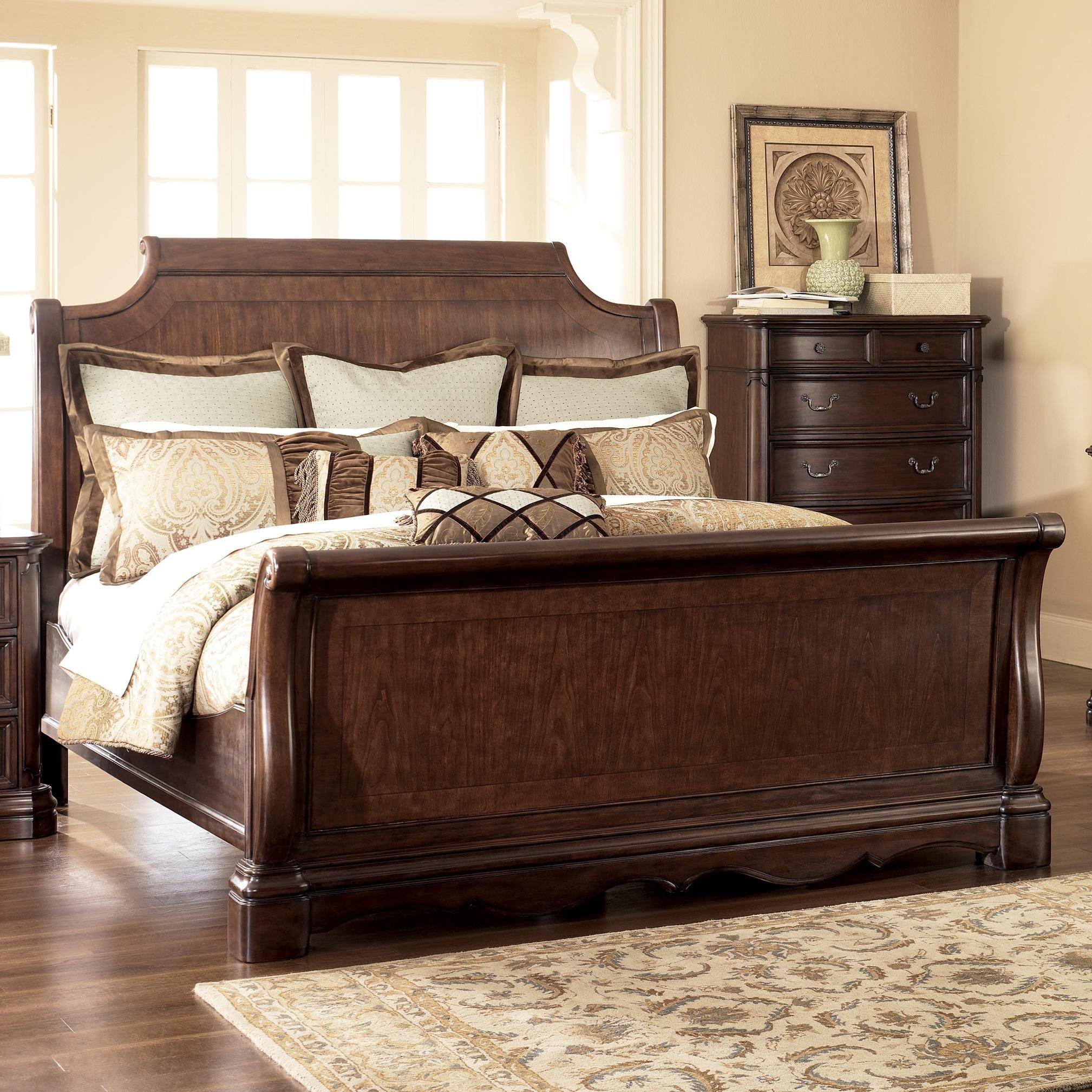 Camilla King Sleigh Bed By Ashley Millennium Pilgrim Furniture City Sleigh Bed Hartford Bridgeport Sleigh Bedroom Set Bedroom Sets Luxury Bedroom Master
