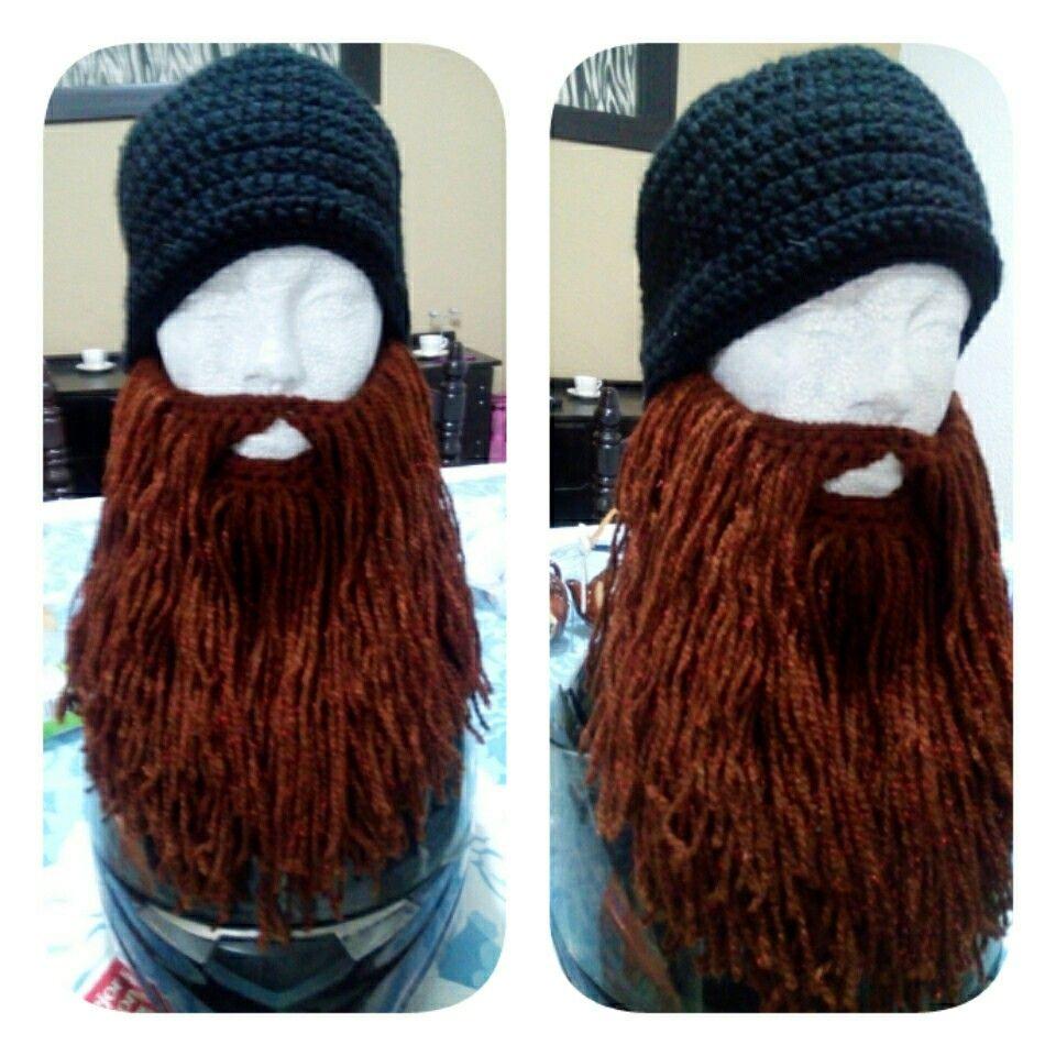 gorro básico con barba crochet | gorros | Pinterest