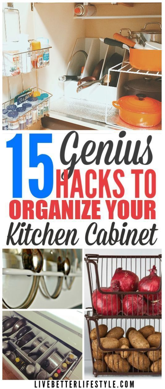 15 MindBlowing Kitchen Cabinet Organization Ideas You'll Regret Not Knowing - Cabinets organization, Kitchen hacks organization, Kitchen cabinet organization, Cabinet organization, Diy kitchen cabinets, Kitchen organization - These mindblowing kitchen cabinet organization ideas are the best! You'll regret not knowing it  We all agree that having an organized house will make your mind at peaceful especially for an organized freak like me  I just can't stand seeing things not organized in my house