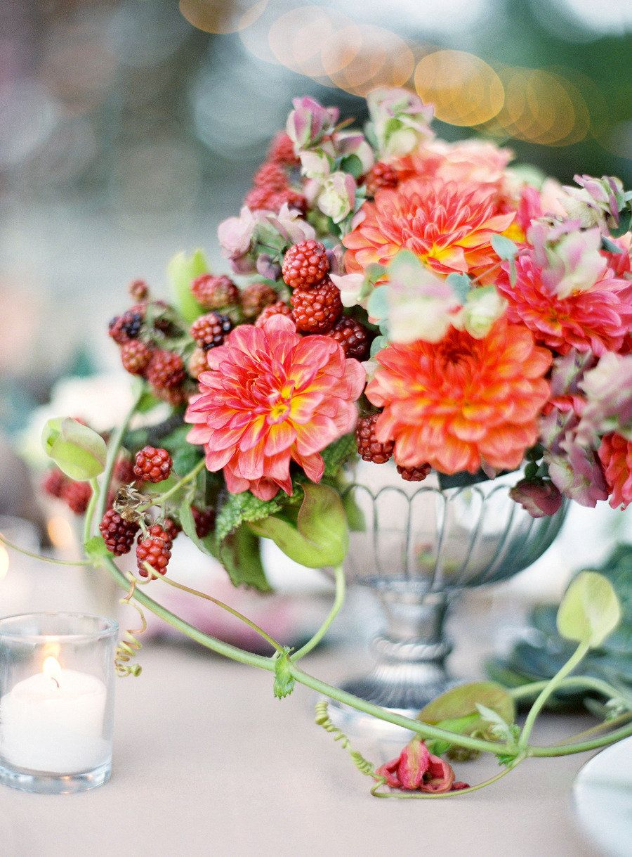 10 Ways To Pretty Up Your Wedding With Calligraphy Custom Lettering Summer Wedding Centerpieces Wedding Centerpieces Dahlias Wedding
