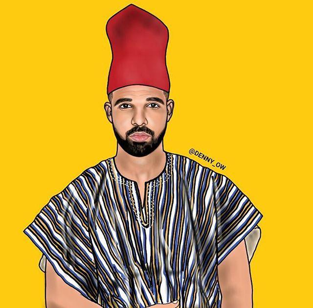 Aubrey Drake Abdul-Salam Graham (PALMWINEPAPI) #art #artlife #fashion #densah #shirt #leaves #style #brand #fashion #empire #leaves #heart #streetfashion #streetwear #virgilabloh #streetstyle #fashionblog #villageboys #ghana #africa #plantainboy #handpainted #ghettokids #uganda #nigeria #southafrica #kenya #jayz @hiphopart #hiphopart #badboy #revolt #revolttv. GOD IS KING @kwame_boateng