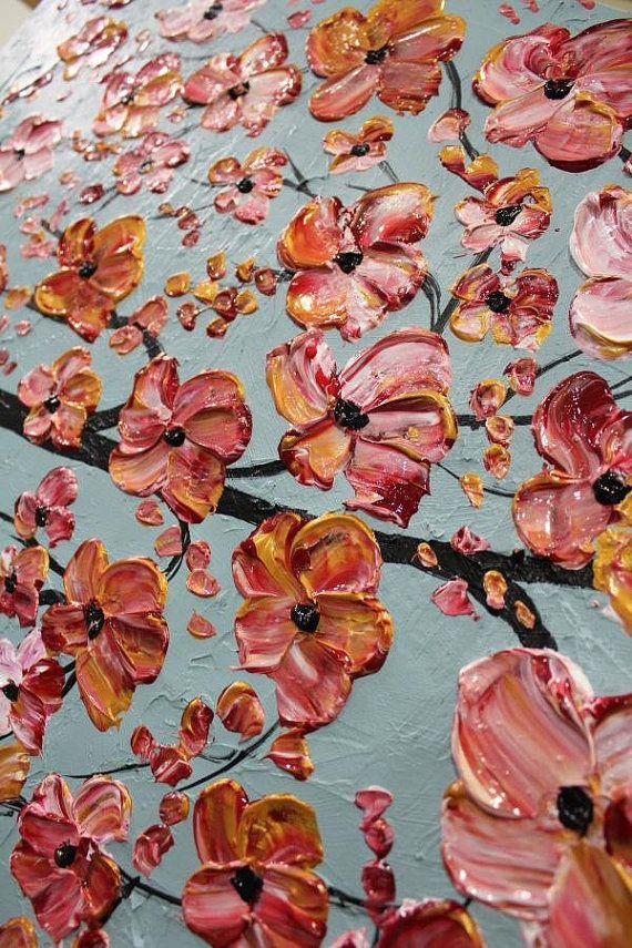 Paisaje de aceite pintura Original moderno 36 espátula por artmod
