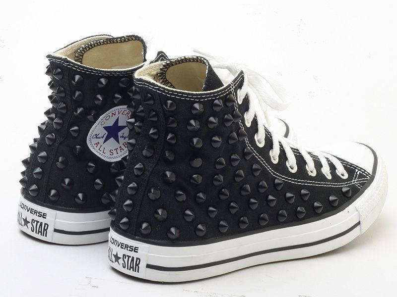 Genuine Converse All Star BKB mit Nieten Spike Stud sneaker