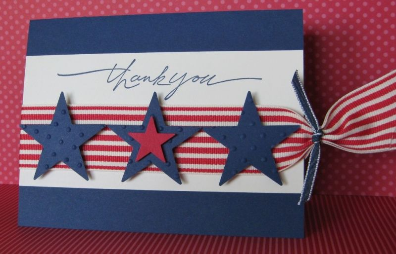 Patriotic Thank You Card by Barb Mann - Cards and Paper Crafts at Splitcoaststampers