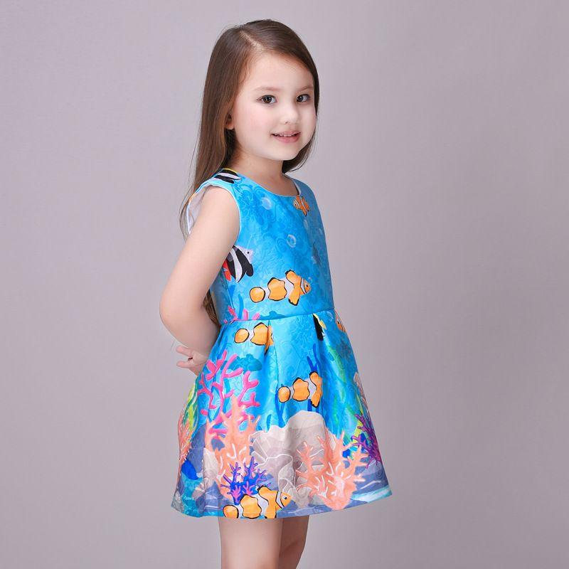 Nueva moda Europea y de estilo americano para niños ropa para niños niñas  vestido del bebé niños de la princesa vestido de verano de vacaciones(China  ... a5c18d81acf