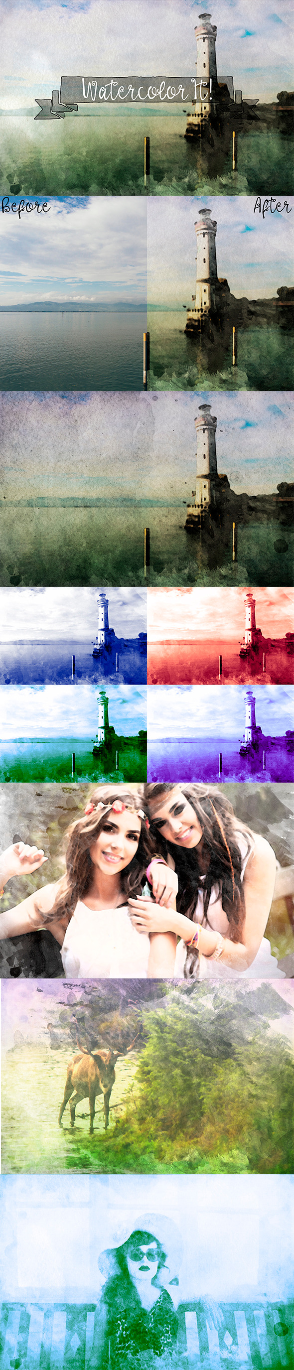 Watercolor It - Photo Effects Actions
