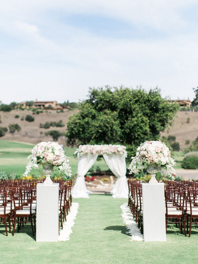 Traditional elegant fairytale wedding in san diego pinterest elegant outdoor san diego wedding ceremony httpstylemepretty junglespirit Image collections
