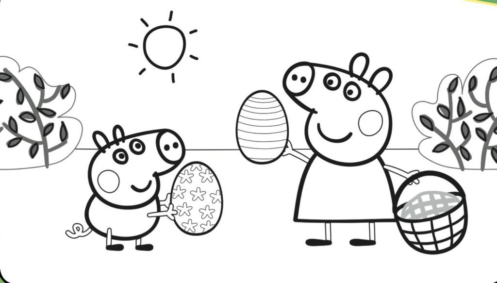 Coloriage Paques Peppa Pig.Peppa Pig Coloring Pages Cartoon Coloring Pages Peppa Pig