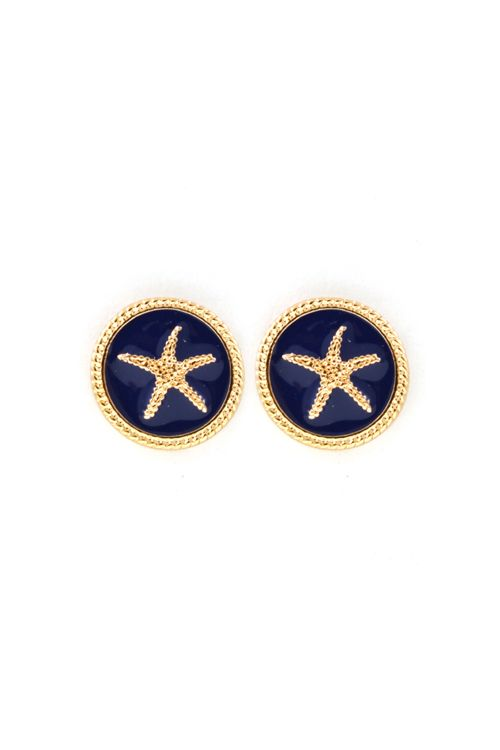 Starfish Buttons in Navy on Emma Stine Limited - I am definitely buying these!!