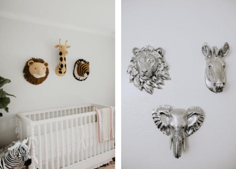 Adding Animal Decor To The Nursery In A Sophisticated Way Childrens Room Wall Decor Minimalist Nursery Animal Decor