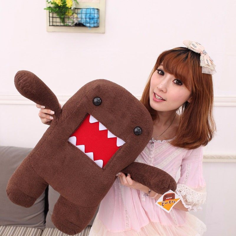 "New 7/"" DOMO KUN Plush Toy Cute Kids Soft Toy Stuffed Toy Doll Birthday Gift"