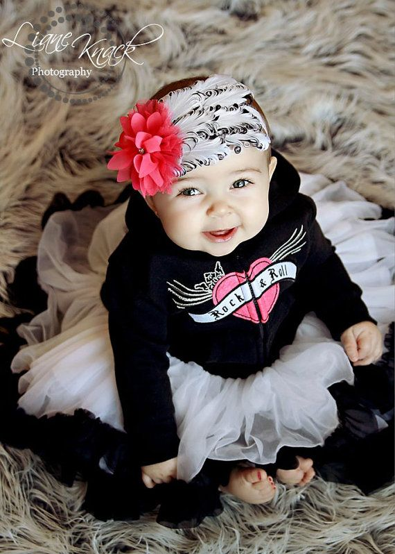 Red Skulls Dress Gothic baby Girls Black white Roses Top Rock Pirate Party Metal