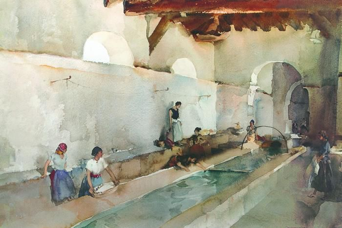 Ripples And Chatter Sir William Russell Flint