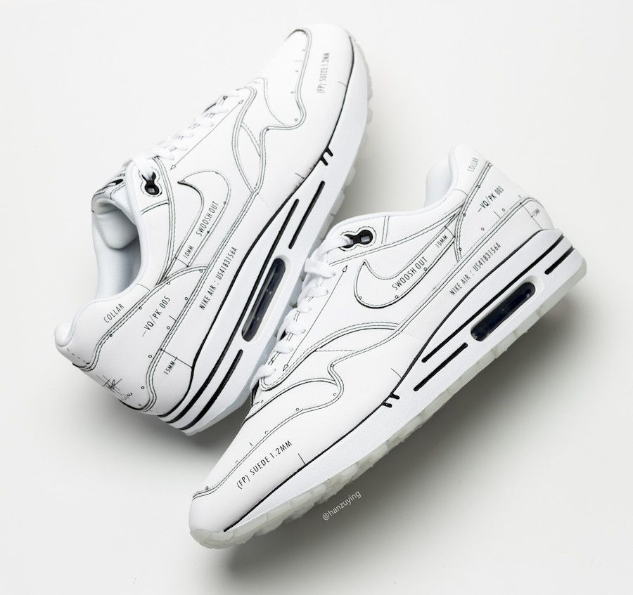 Nike Air Max 1 Schematic Sketch To Shelf CJ4286 100 Release