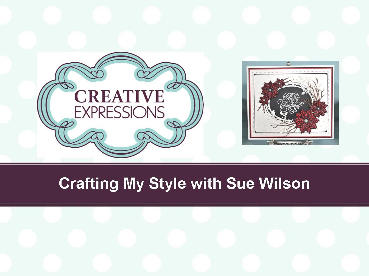 Crafting My Style with Sue Wilson - Mosaic Poinsettia for Creative Expre...