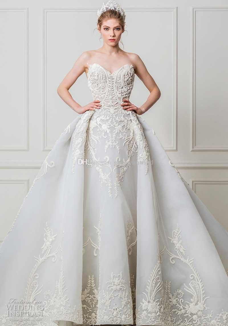 grey blue ball gown wedding dresses 2017 maison yeya bridal sweetheart neckline princess royal train wedding