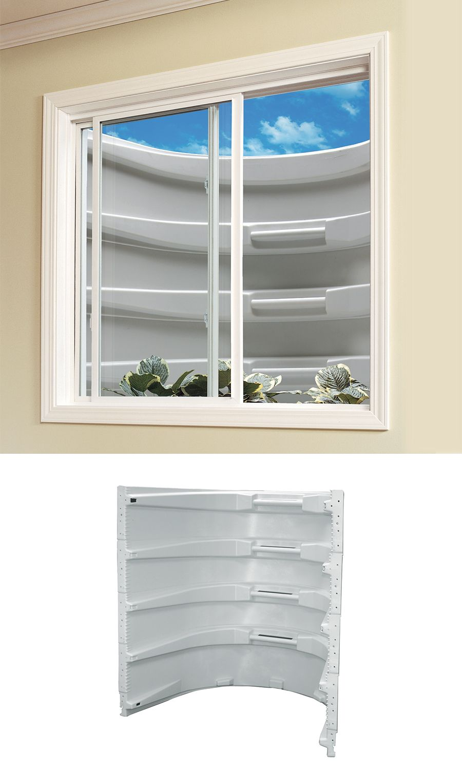 Style And Security All Rolled Into One This Wellcraft Modular Window Well Helps Your Family Stay Saf Window Well Basement Windows Basement Window Replacement