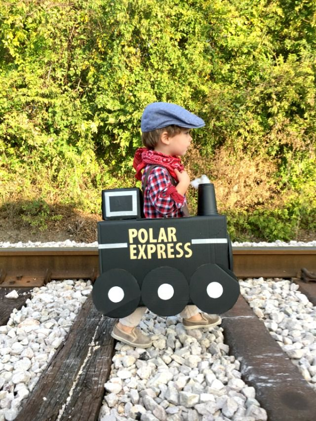 Cardboard Box Train Costume Polar Express Train Train Costume Polar Express