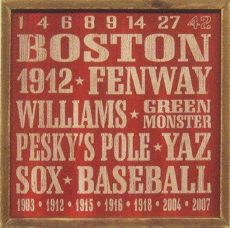 Boston Red Sox Vintage Sports Wall Decor 18 X18 Sign
