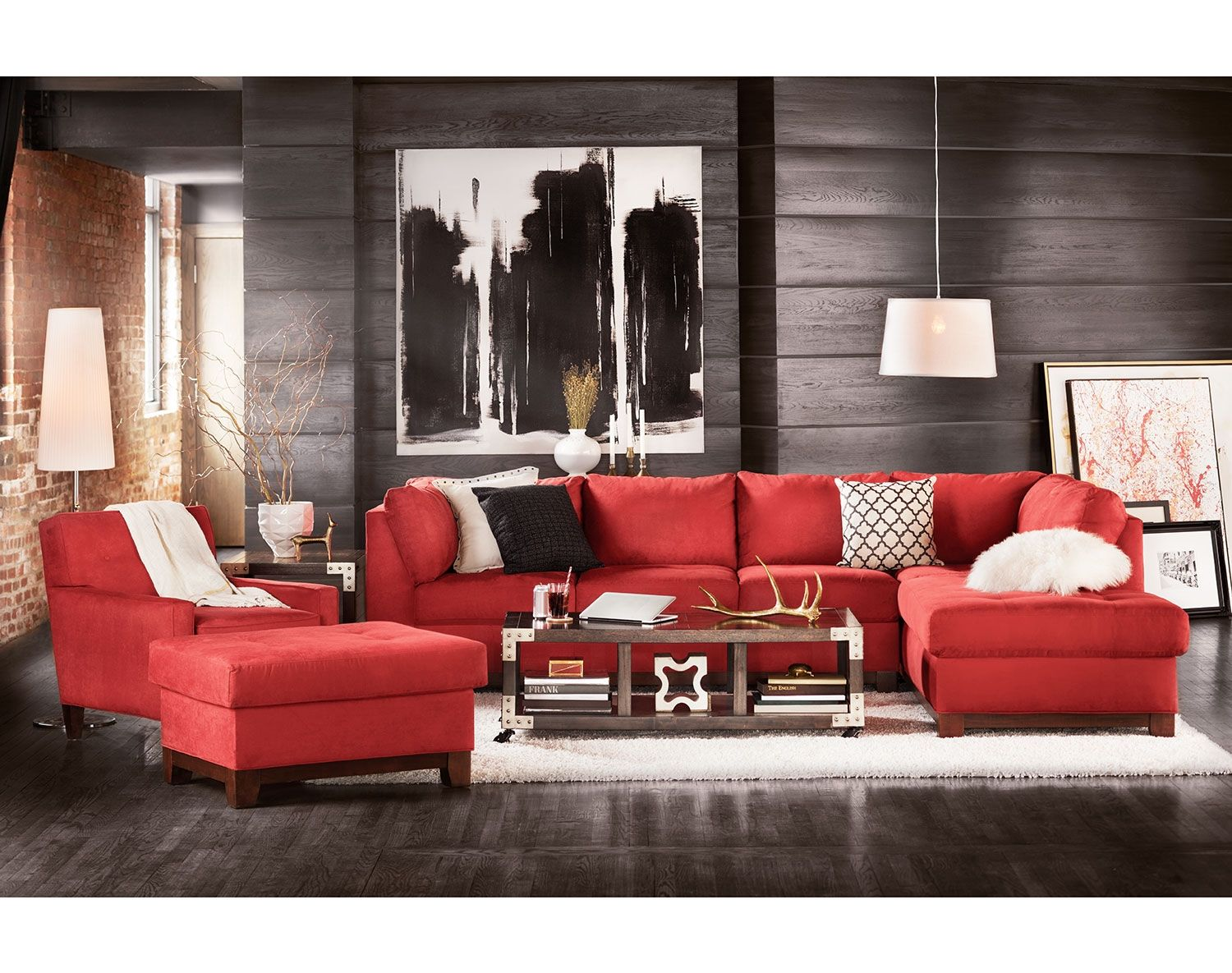 Best The Soho Collection Value City Furniture Red Couch 400 x 300