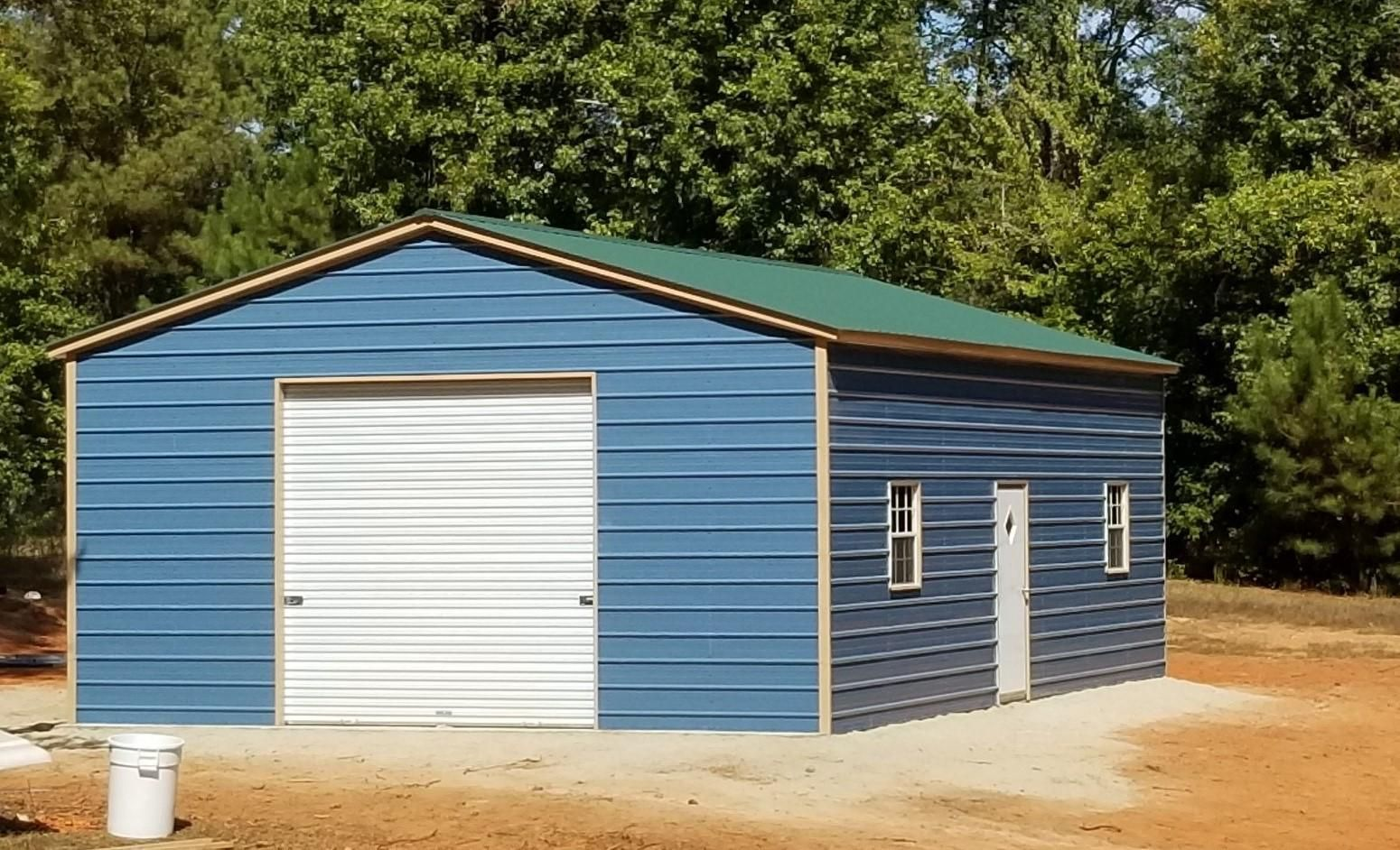 Best 24X36 Vertical Roof Metal Garage Alan S Factory Outlet 400 x 300