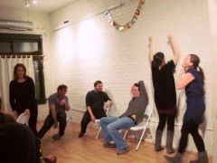 experimental improv at #andersonville's upstairs gallery in #chicago.